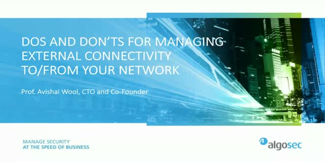 Dos and Don'ts for Managing External Connectivity to/from Your Network