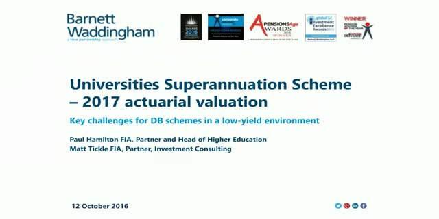 The actuarial valuation of the USS - key challenges for DB schemes