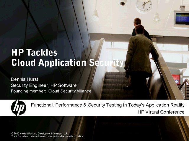 HP Tackles Cloud Application Security