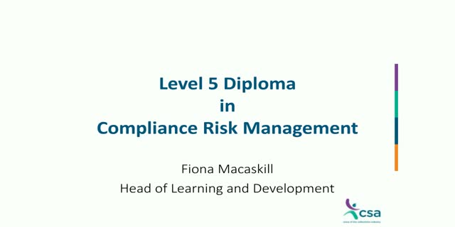 Level 5 Diploma in Compliance Risk Management