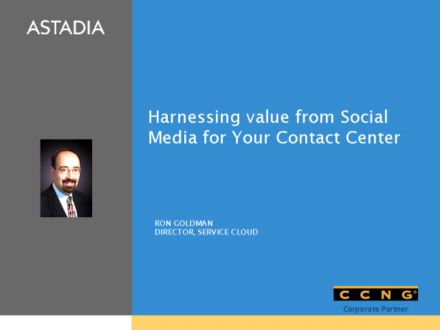 Harnessing value from social media for your contact center