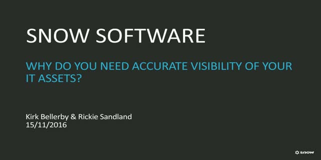 Government Webinar: Accurate visibility of all software & hardware assets