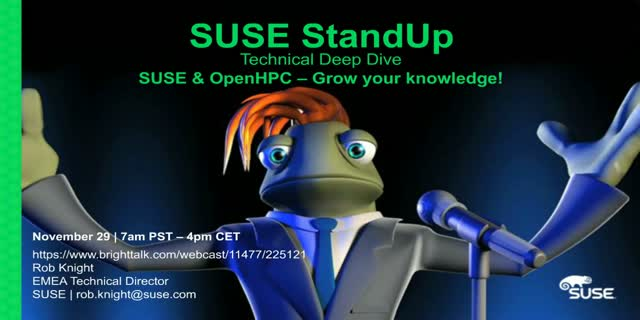 SUSE & OpenHPC: Build, Manage & Scale your High Performance Computing needs!