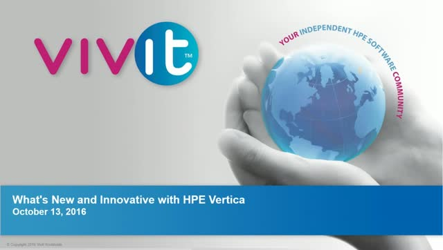 What's New and Innovative with HPE Vertica