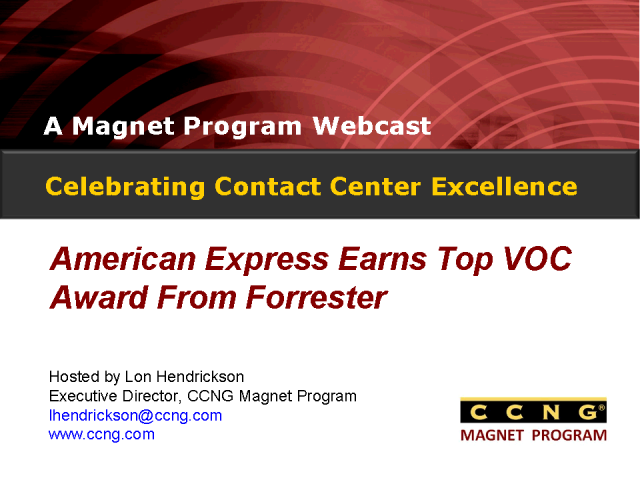 Celebrating Contact Center Excellence at American Express