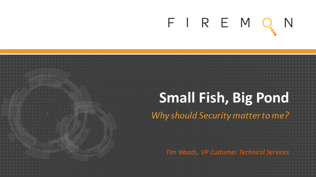 Small Fish, Big Pond: Why should Security Matter to Me?