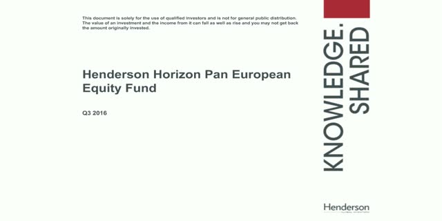 Live Insight: Henderson Horizon Pan European Equity Fund
