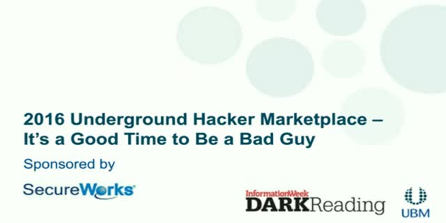 2016 Underground Hacker Marketplace