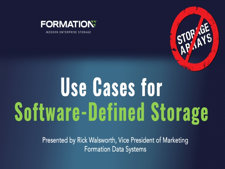Use Cases for Software-Defined Storage