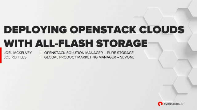 Fast, Simple, Risk-Free: SevOne and Pure Storage Talk OpenStack