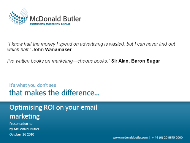 Optimising ROI from your email marketing