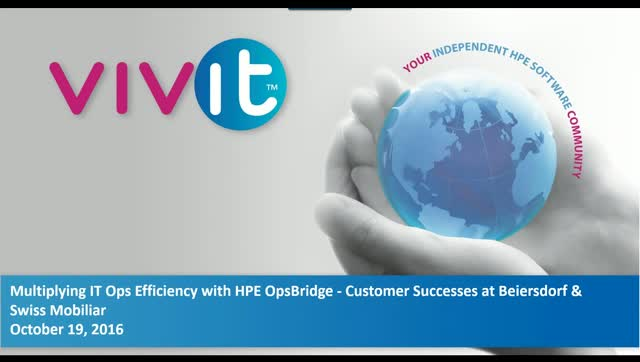 Multiplying IT Ops Efficiency with HPE OpsBridge - Customer Successes at Beiersd