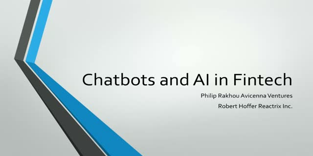 Chatbots and AI in Fintech