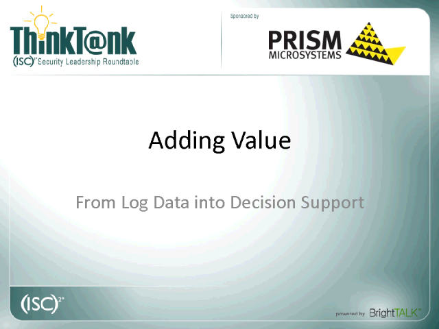 Adding Value: From Log Data into Decision Support