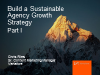 Build a Sustainable Agency Growth Strategy - Part I