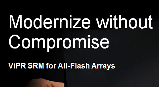 Tech Talk: ViPR SRM for All Flash Arrays