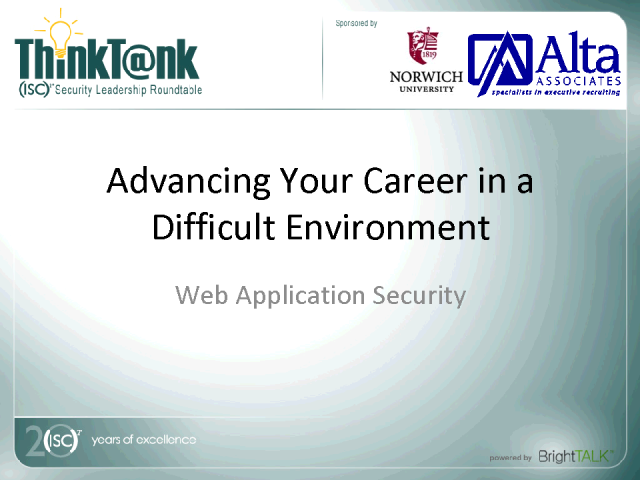 Advancing Your Career in a Difficult Environment