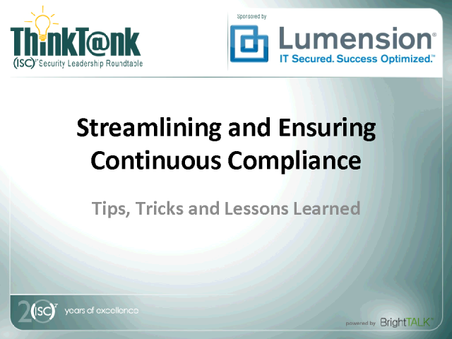 Streamlining and Ensuring Continuous Compliance