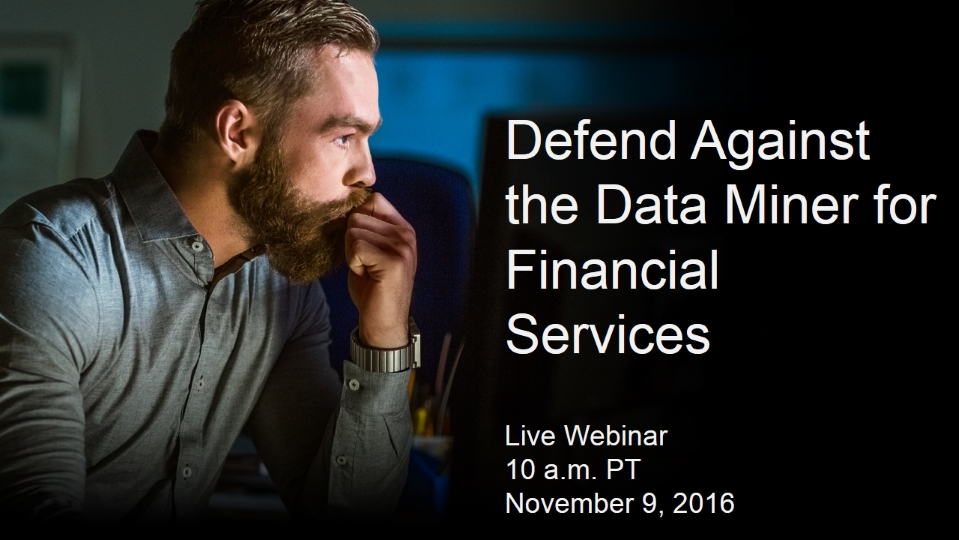 Defend Against the Data Miner for Financial Services