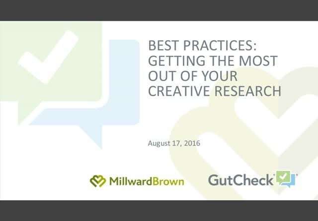 Best Practices: Getting the Most Out of Your Creative Research