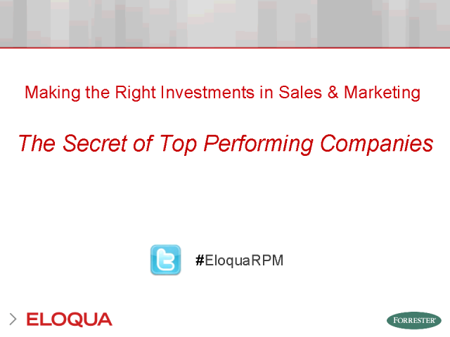 Making the Right Investments in Sales & Marketing