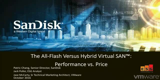 All-Flash Versus Hybrid VMware Virtual SAN™: Performance vs. Price