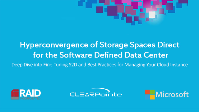 Storage Spaces Direct Hyperconvergence in Windows Server 2016