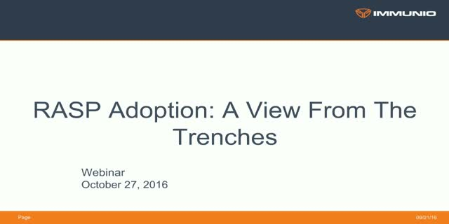 RASP Adoption: A View From The Trenches