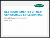 Key Requirements for Next Gen Storage