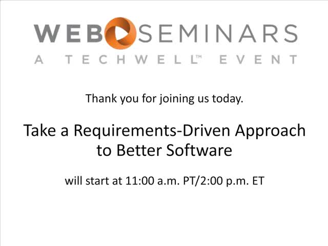Take a Requirements-Driven Approach to Better Software
