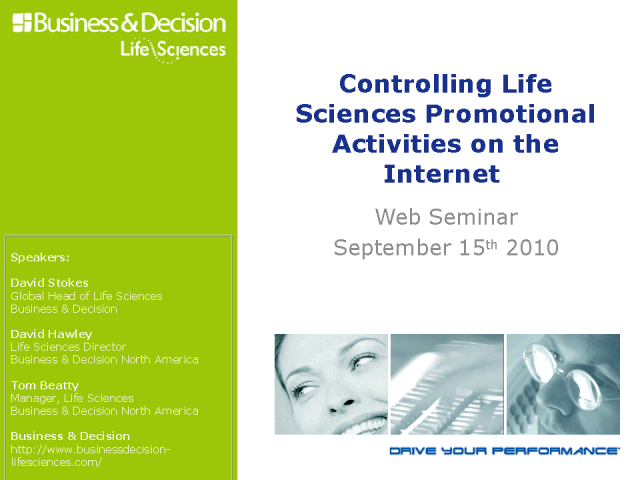 Controlling Life Sciences Promotional Activities on the Internet
