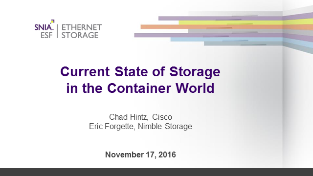Current State of Storage in the Container World