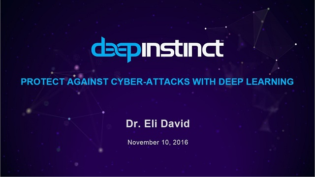 Protect Against Cyber Attacks with Deep Learning