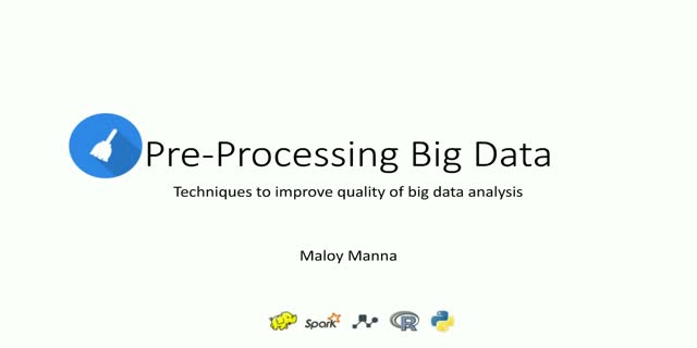 Pre-Processing Big Data: Techniques to improve quality of big data analysis