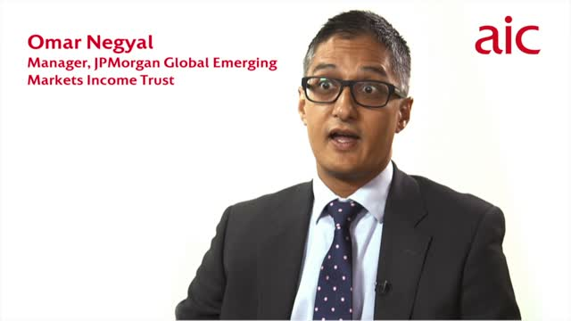 Omar Negyal, manager, JPMorgan Global Emerging Markets Income Trust