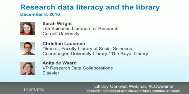Research data literacy and the library