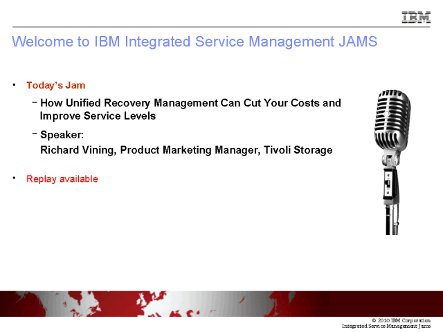 Unified Recovery Management - Cut Costs & Improve Service Levels