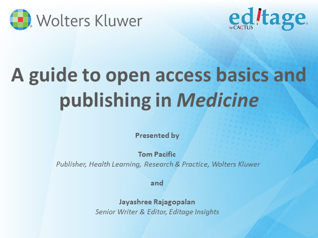 A guide to open access basics and publishing in Medicine