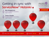 Getting in sync with ServiceNow Helsinki