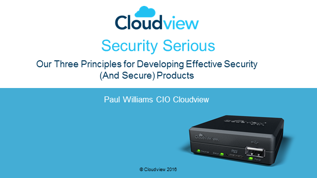The three principles of developing effective security products
