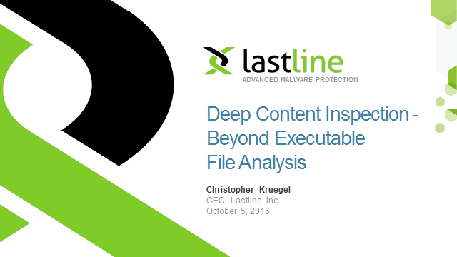 Deep Content Inspection - Beyond Executable File Analysis