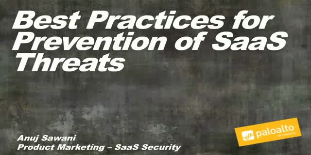 Best Practices for Prevention of SaaS Threats