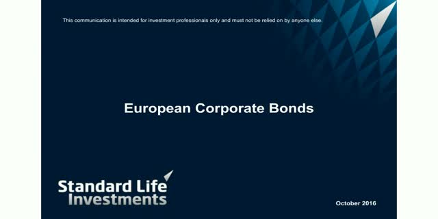 European Corporate Bond Quarterly Webcast