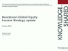 Searching for yield? A global approach to equity income