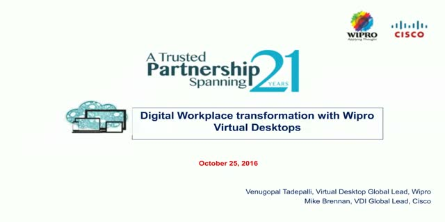Digital Workplace Transformation with Virtual Desktops