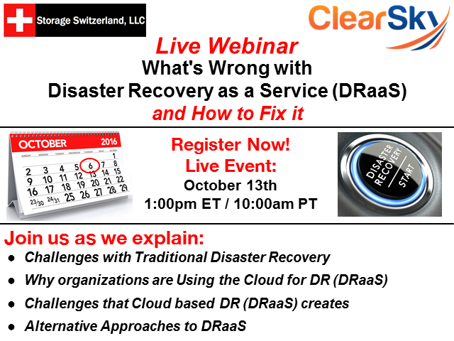 What's Wrong with Disaster Recovery as a Service (DRaaS) and How to Fix it