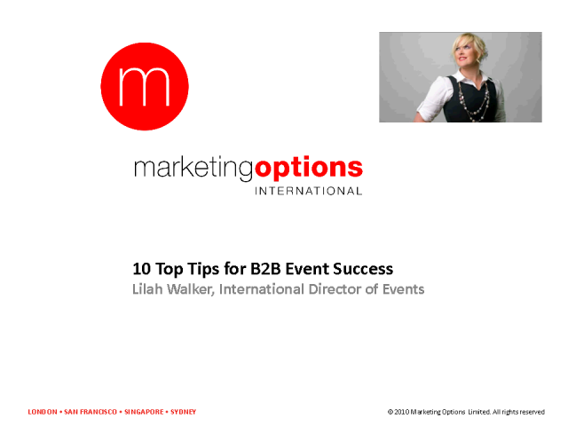 Using events to deliver more sales and better qualified leads