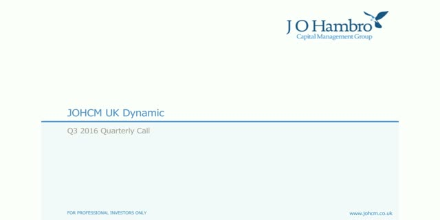 JOHCM UK Dynamic Fund - Q3 2016