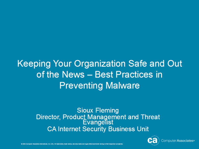 Preventing Malware – Keeping Safe and Out of the News