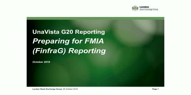 UnaVista announces G20 Reporting Support for SIX FinFrag reporting